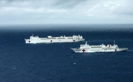 USNS Mercy and China's Peace Ark